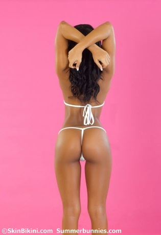 Skimpy micro g-string bikini, white back, by skinbikini.com, picture 3